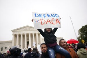 Protest outside U.S. Supreme Court supporting DACA.